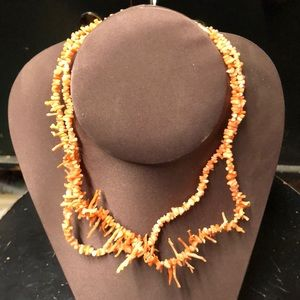 """Jewelry - (2) Coral Necklaces - 16"""" each"""